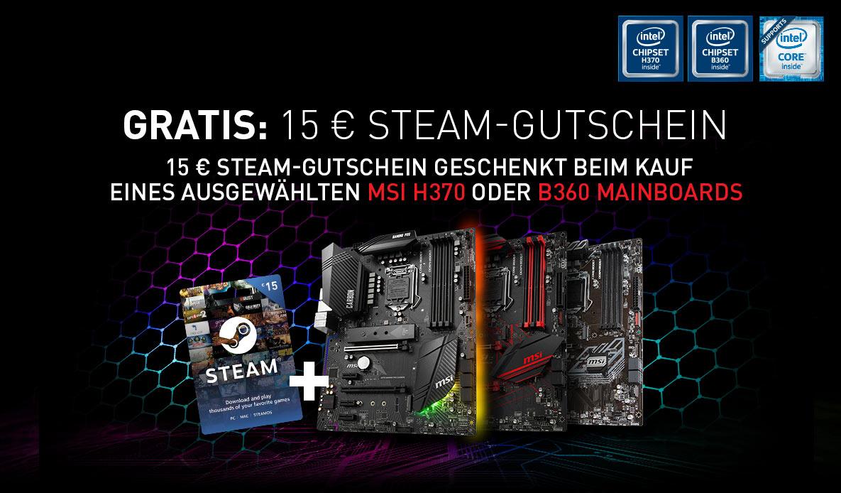 MSI H370 B360 Steam Promo April | Mindfactory.de - Hardware ...