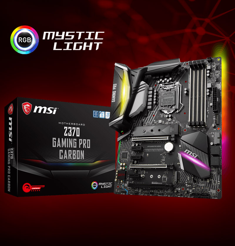 MSI Z370 GAMING PRO CARBON Intel Z370 So.1151 Dual Channel DDR ATX